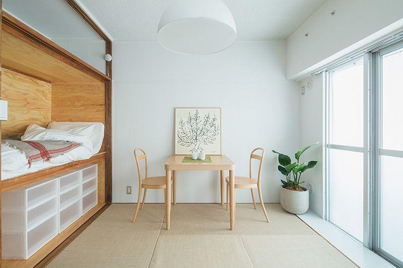 Plan46 コンパクトライフ 押入ベッドと土間収納がある暮らし Muji Ur 団地リノベーションプロジェクト 無印良品の家 インテリア 家具 ホームウェア 自宅で