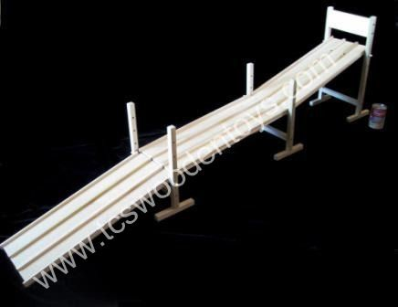 Amish Wood Toy 2 Lane 4 Ramp Race Car Track Almost 8 Feet Long