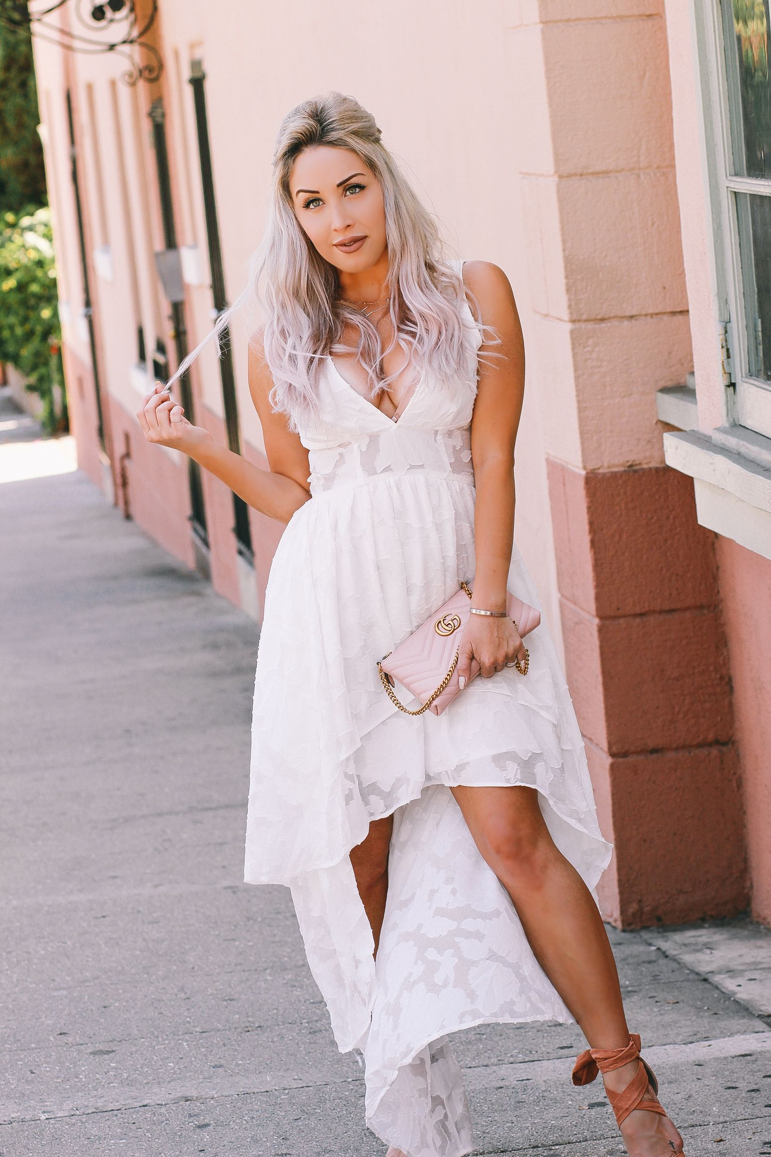Boobalicious Blondie In The City Lace High Low Dress White Bridal Shower Dress Fashion [ 2325 x 1550 Pixel ]