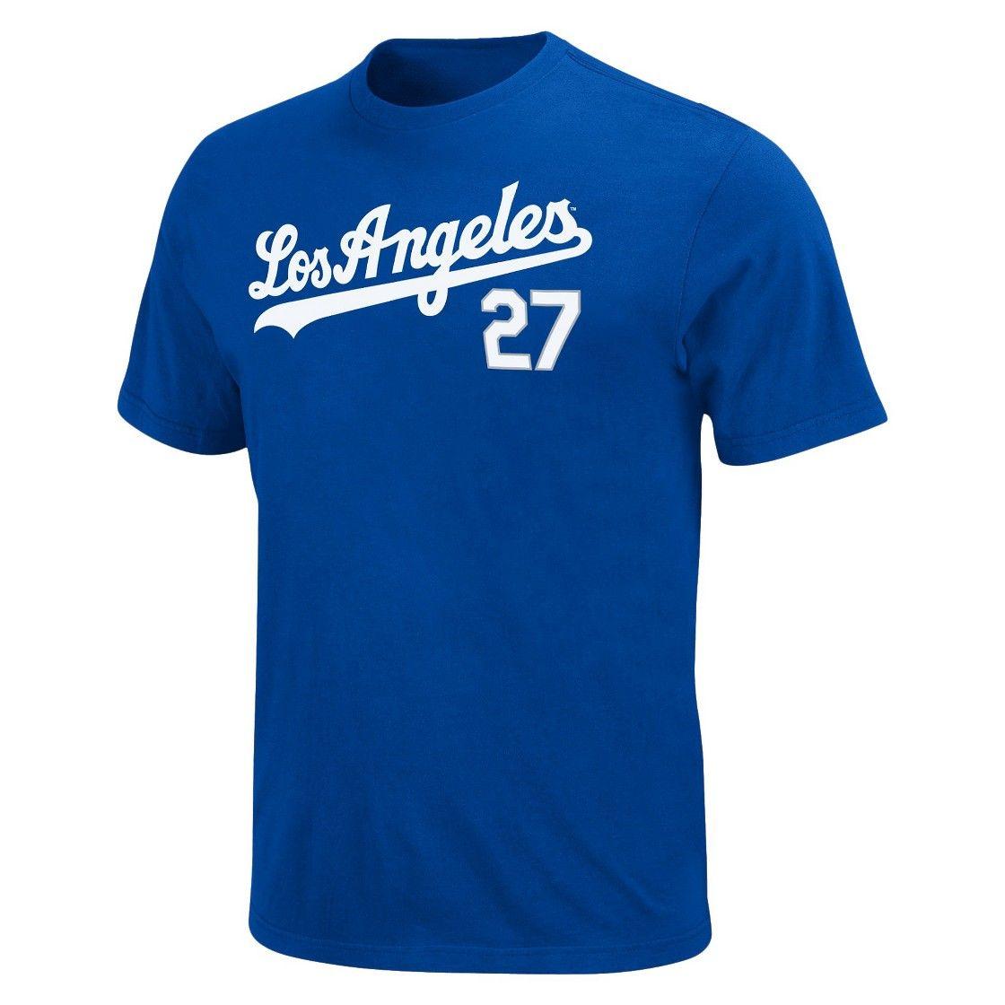 Los Angeles Dodgers Matt Kemp Men's T-Shirt Blue