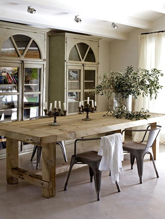 Great Mix Of Rustic And Modern In This Spanish Countryside Villa Dining Room Image By Burrs Berries Cc By Nd Dining Room Design Rustic Dining Room Home