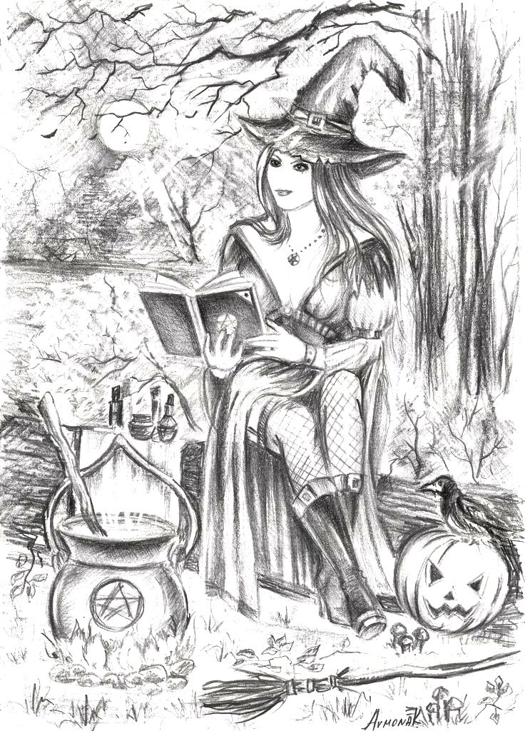 Halloween Witch Wizard Pumpkin Jack-o-Lantern Trick-or-Treat Zombie ...