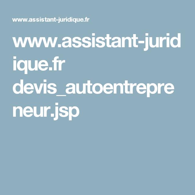 Www Assistant Juridique Fr Devis Autoentrepreneur Jsp