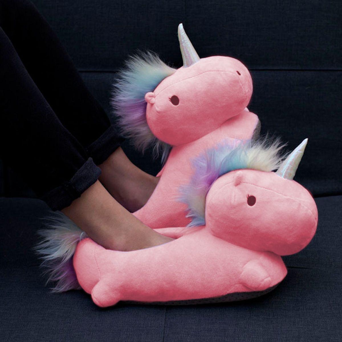 Photo of Beheizbare Einhorn-Hausschuhe, Slippers, Schuhe, Unicorn, rosa, pink, warm, wärmend, niedlich, Prinzessin, Geschenke für Frauen, Pantoffel, Mädchen