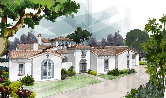 European Style House Plan 4 Beds 3 5 Baths 3891 Sq Ft Plan 417 413 Spanish Style Homes Mediterranean Homes Mediterranean House Plans