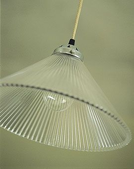Glass lamp shade from Baileys