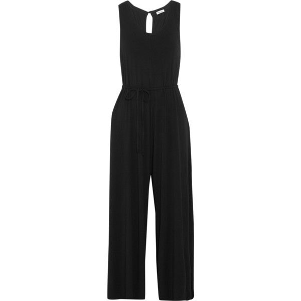Splendid Cropped stretch-jersey jumpsuit (218 AUD) ❤ liked on Polyvore  featuring jumpsuits