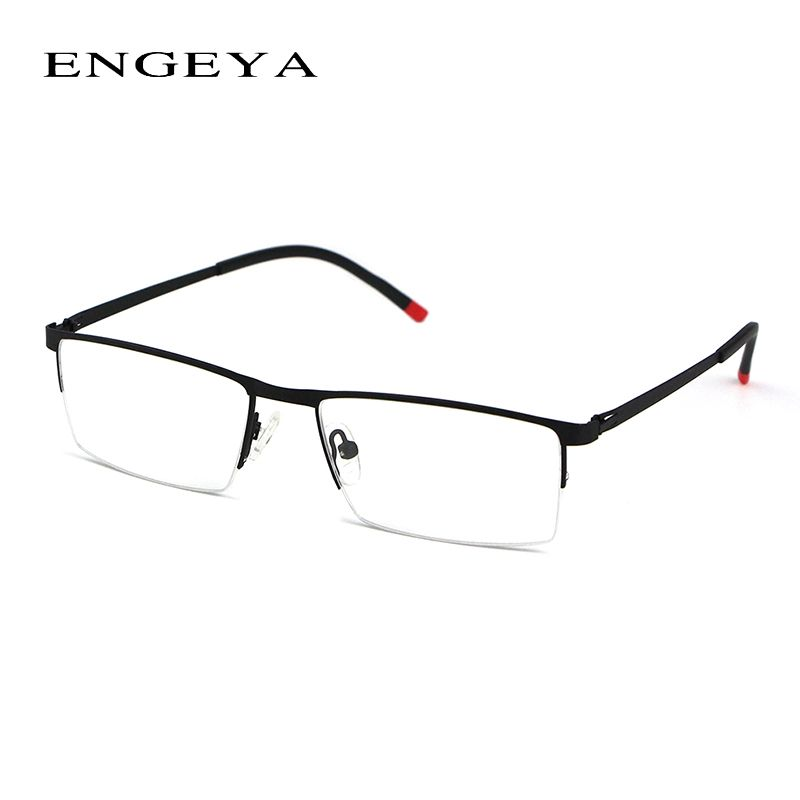 engeya metal clear fashion glasses frame optical eyewear glasses legs unique design of half eyeglasses frame - Womens Metal Eyeglass Frames