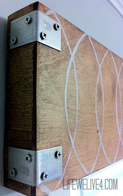 Industrial Wooden Valance From Life We Live 4 Wooden