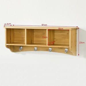 Soporte de pared de bambu libreria estante estanteria de for Soporte estanteria ikea