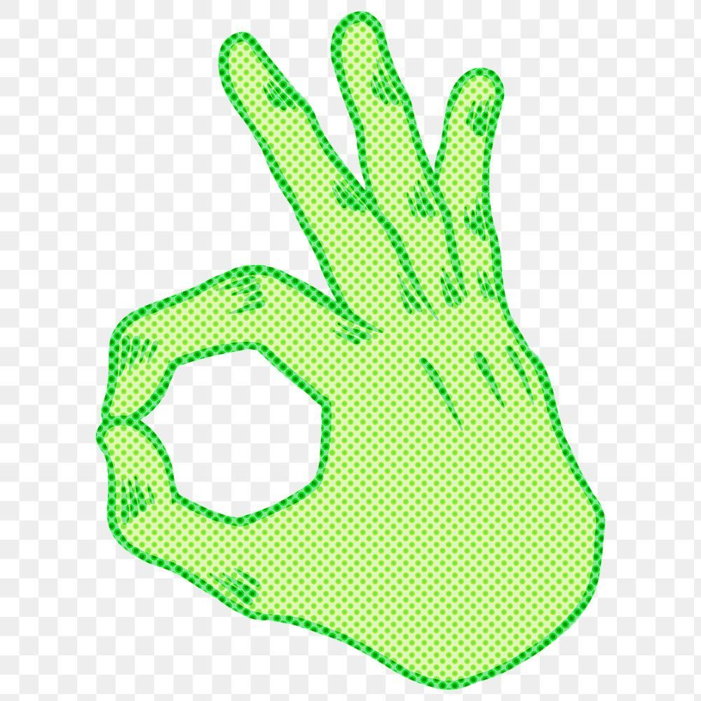 Green Halftone Ok Hand Sign Sticker Overlay Design Resource Free Image By Rawpixel Com Ningzk V Ok Hand Sign Sticker Sign Design Element