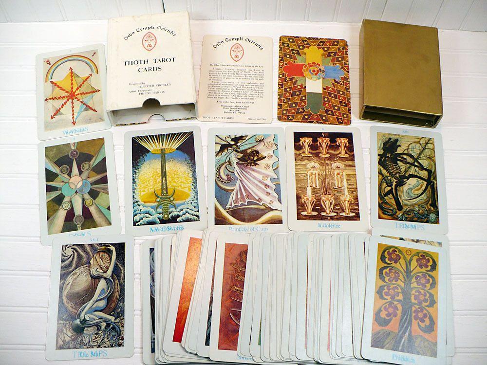 Vintage Oto Aleister Crowley Thoth Tarot Card Deck White Box