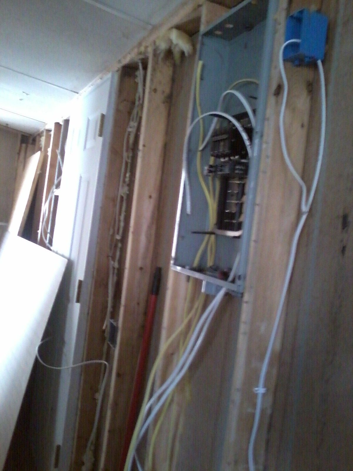 Panel Box With A Few Wires Ran In House Pinterest Wiring Of Iron