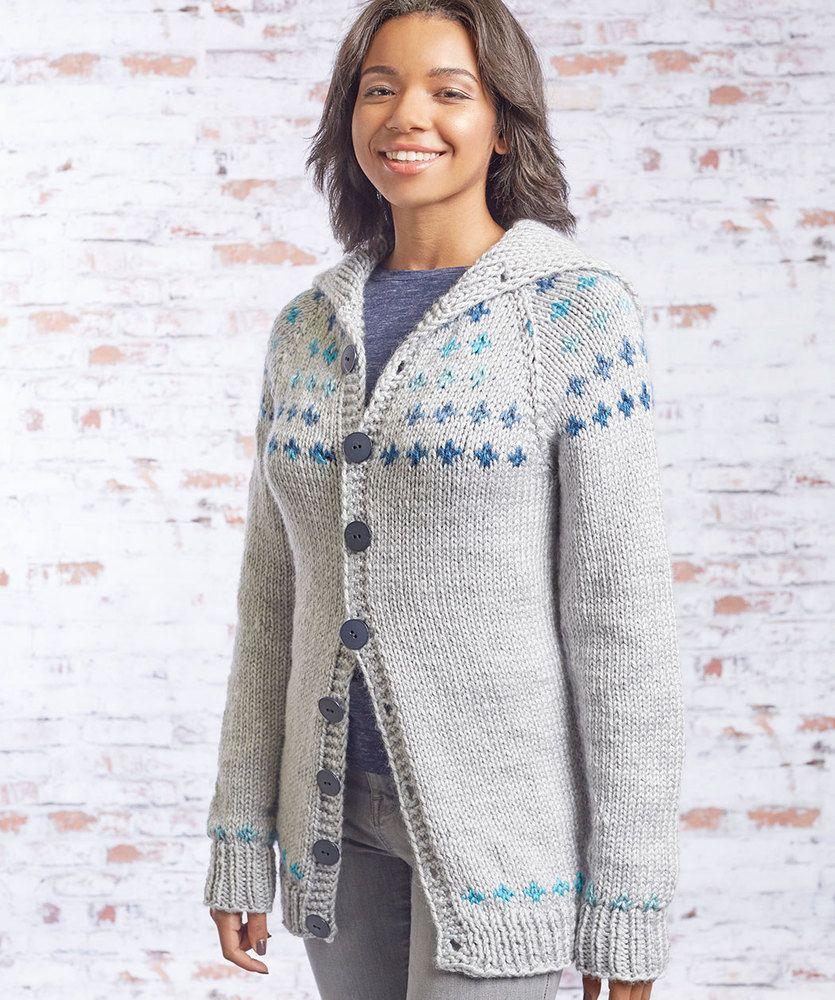 0c8f367ae0c7 Free Knitting Pattern for a Fair Isle Sweater Coat
