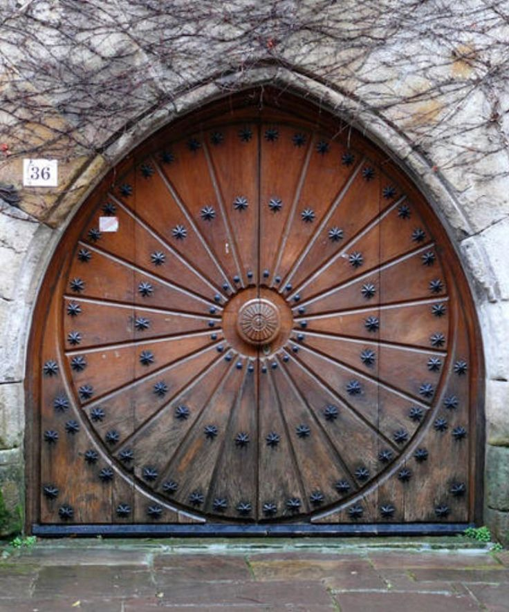 carved circular door & carved circular door | Fantasy design | Pinterest | Doors Spain and ...
