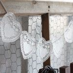 Doily Heart  Bunting - I used this for my Valentine bunting this year, I wrote one letter in each heart to spell love.