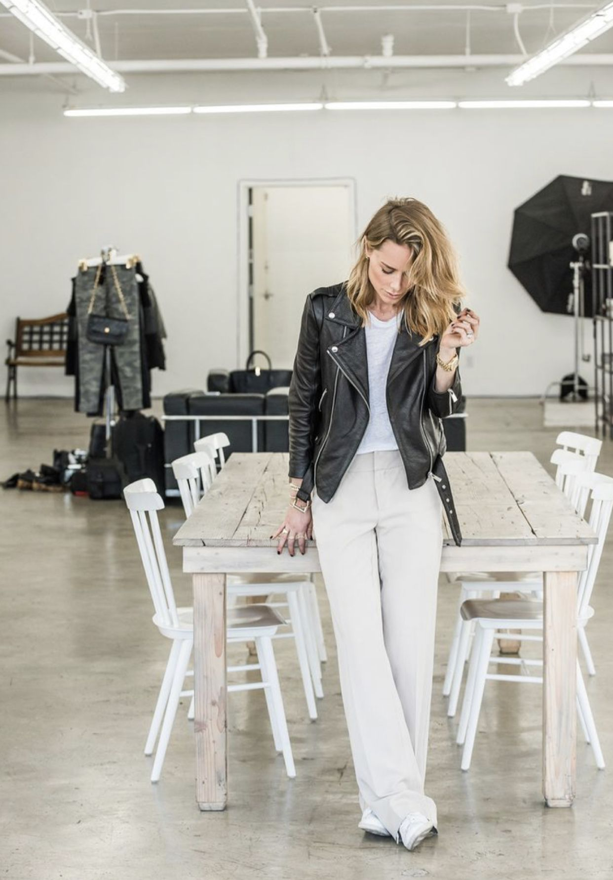 Sibila Black Soft Leather Biker Jacket