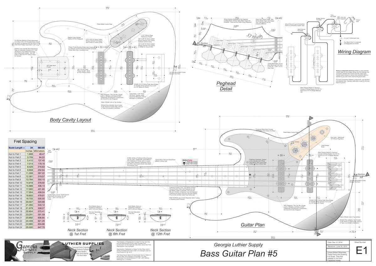 Bass Guitar Plans 5 Electronic Version In 2018 Carvin Vintage 16 Schematic