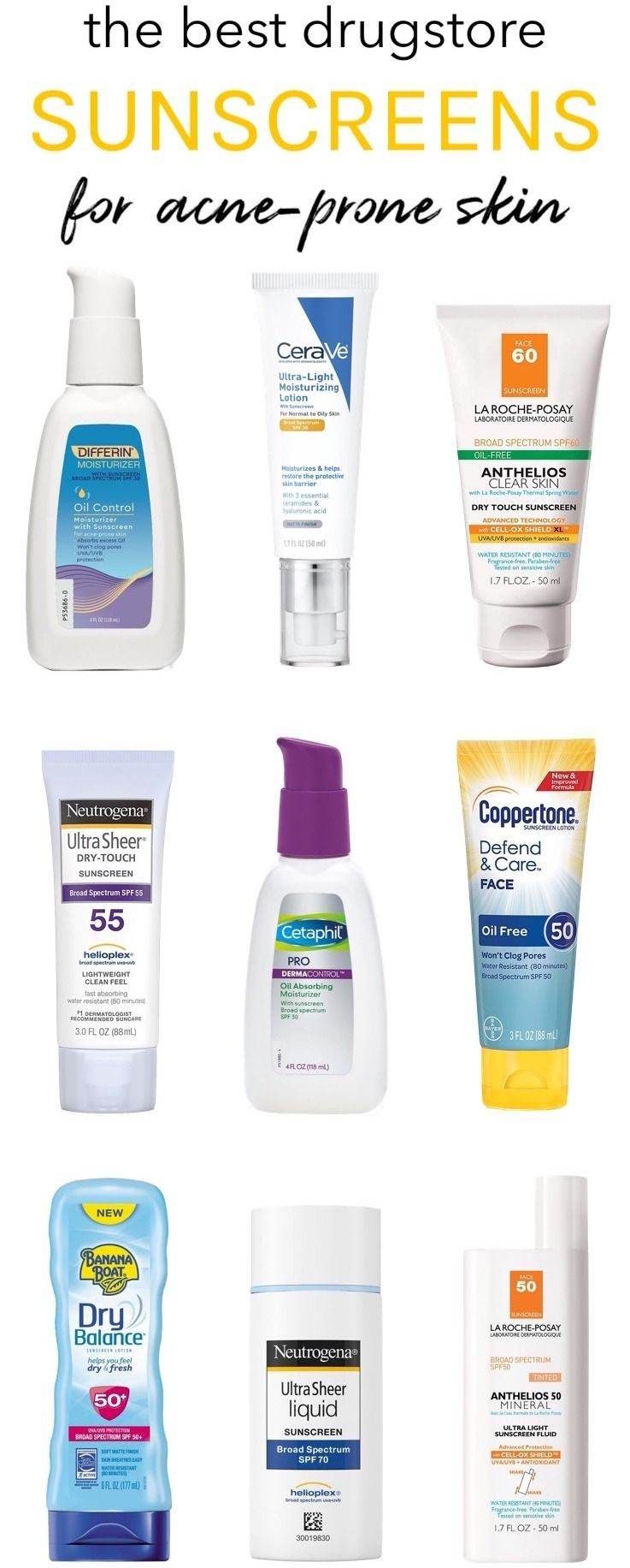 best sunscreen for acne prone skin
