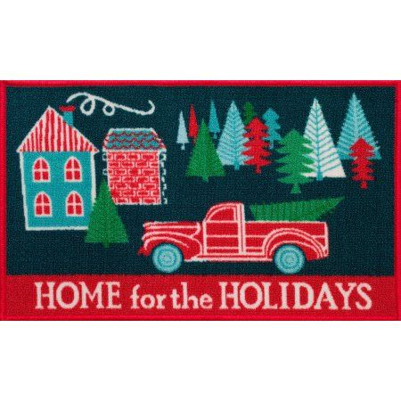 Holiday Time Ht 18x30 Truck And Tree Rug