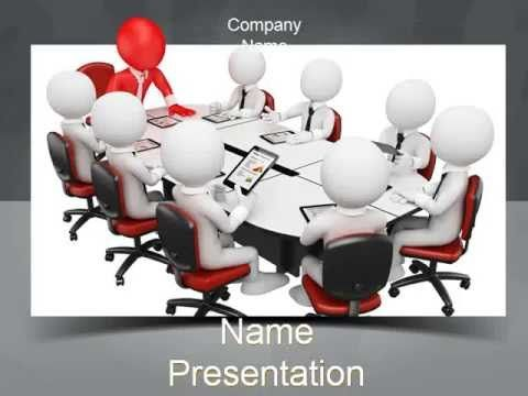3D Man Business Meeting PowerPoint Template - YouTube   www
