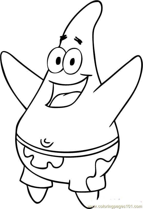 Spongebob Squarepants Coloring Pages Spongebob Drawings Star