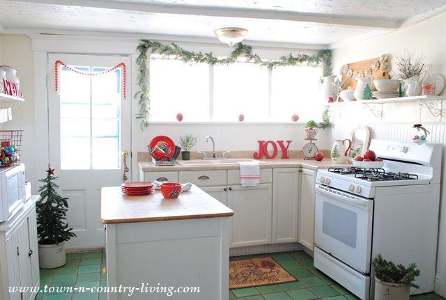 christmas decor a scandinavian inspired farmhouse kitchen