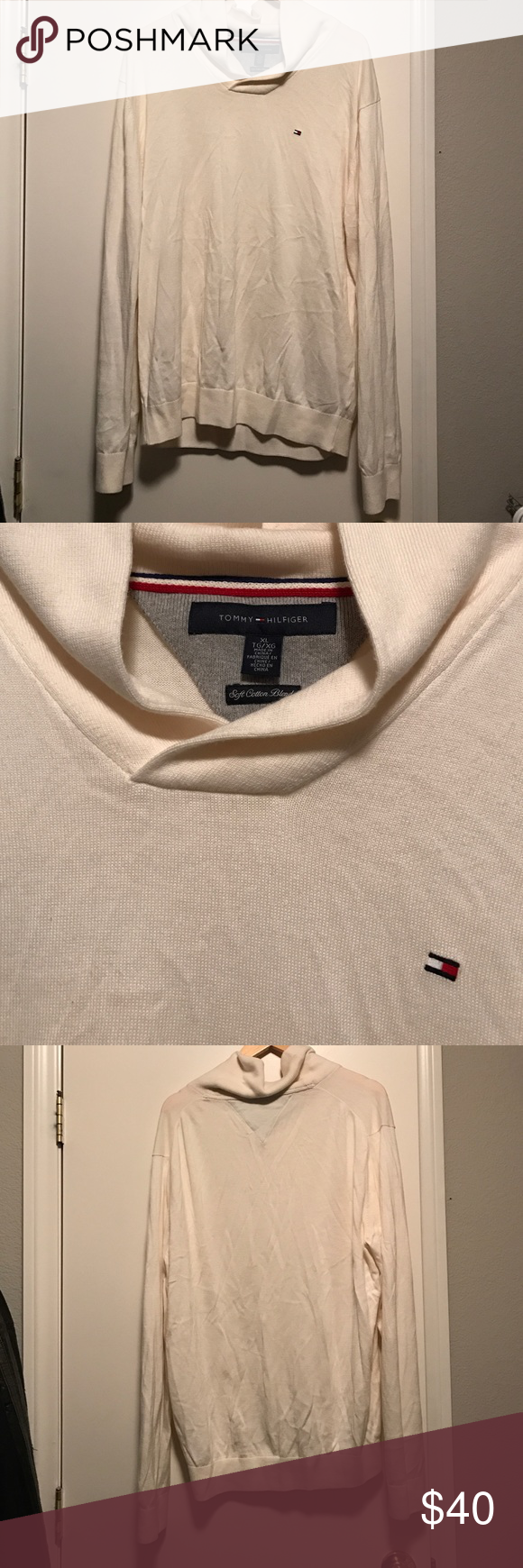 Tommy Hilfiger sweater Great condition, soft cotton blend Tommy Hilfiger Sweaters Turtleneck