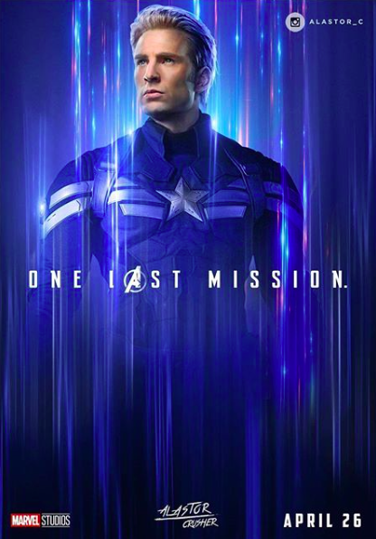 Avengers Endgame Captain America Fan Poster Marvel Dc