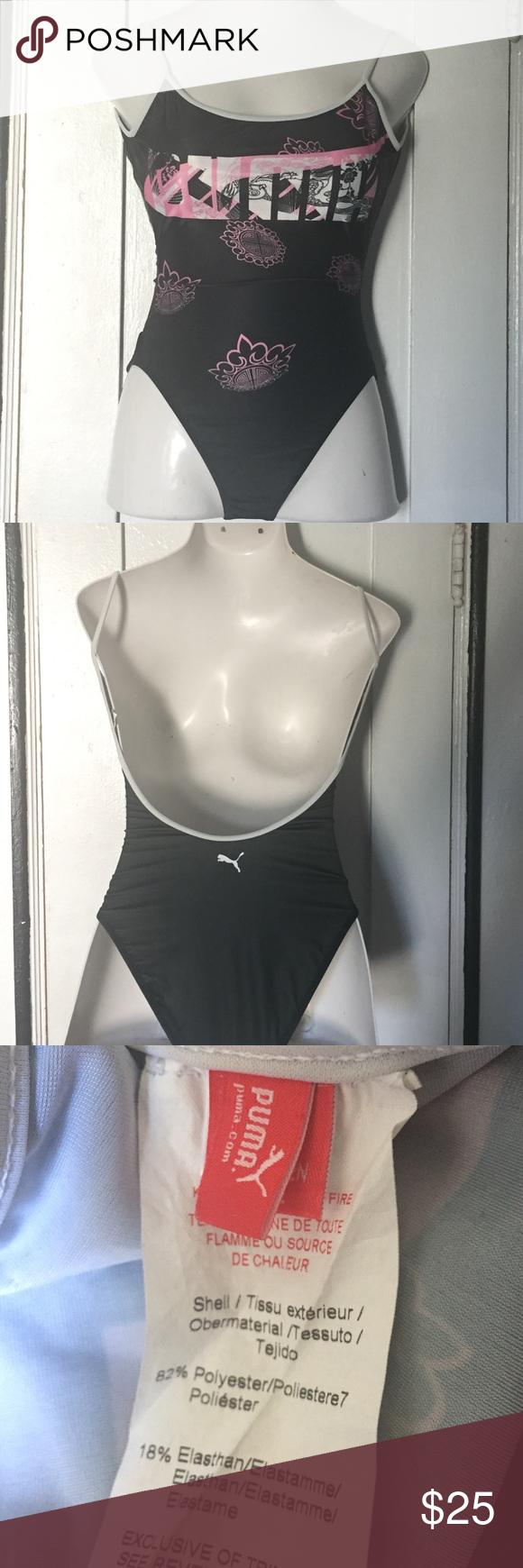 Puma One Piece Open Back Bathing Suit Size Medium My Posh Picks