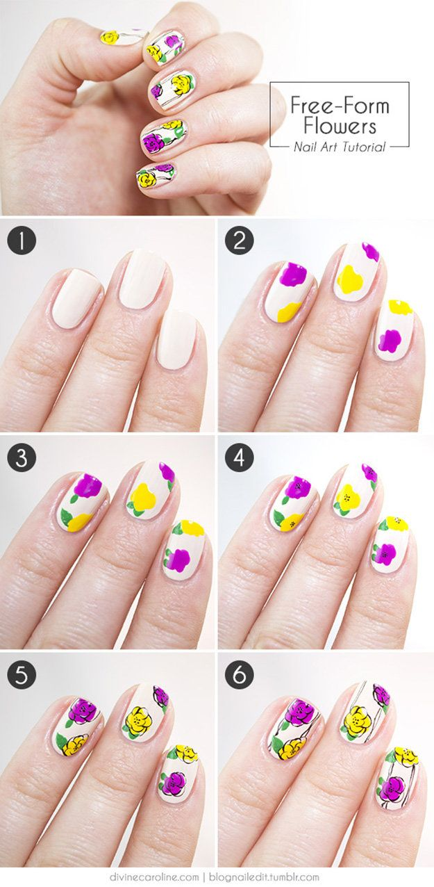 21 Easy Nail Art Designs You Can Wear All Year Round | Manicure ...