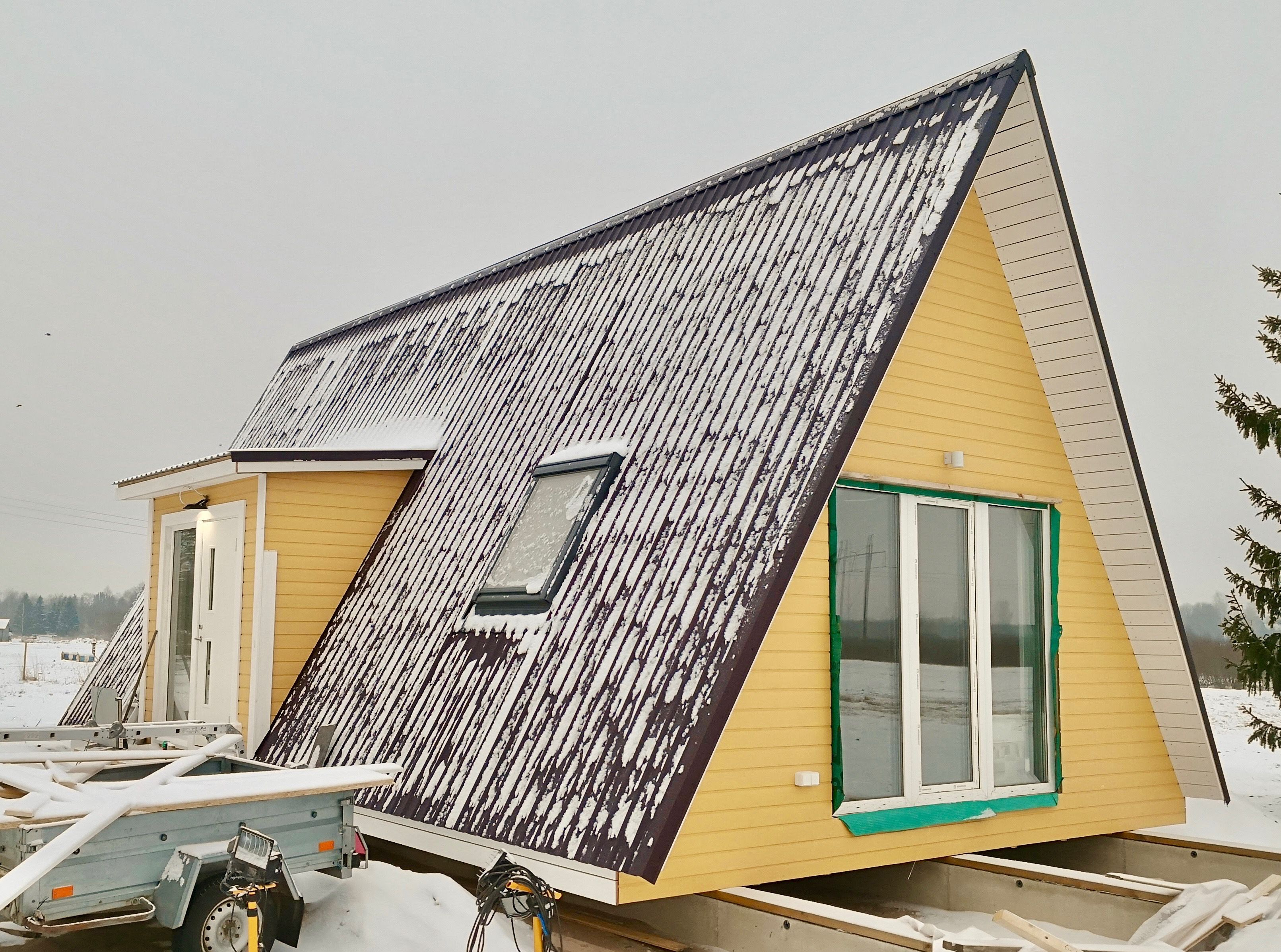 1 Bedroom 1 Bathroom A Frame Starter Home With Loft Good For Off The Grid Living And Affordable Housing Kit Homes A Frame House Affordable Housing