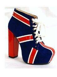 Union jack heeled shoes