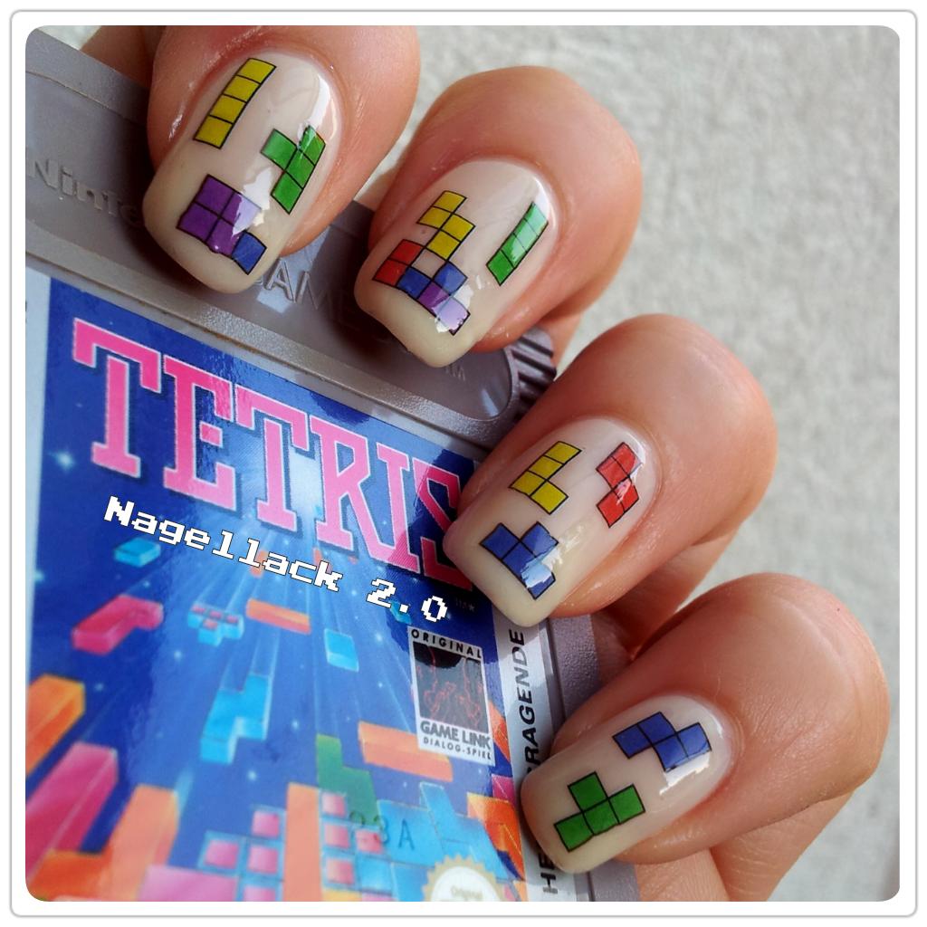 Tetris nails | G33K | Pinterest | Nagellack, Nagelschere und Beauty
