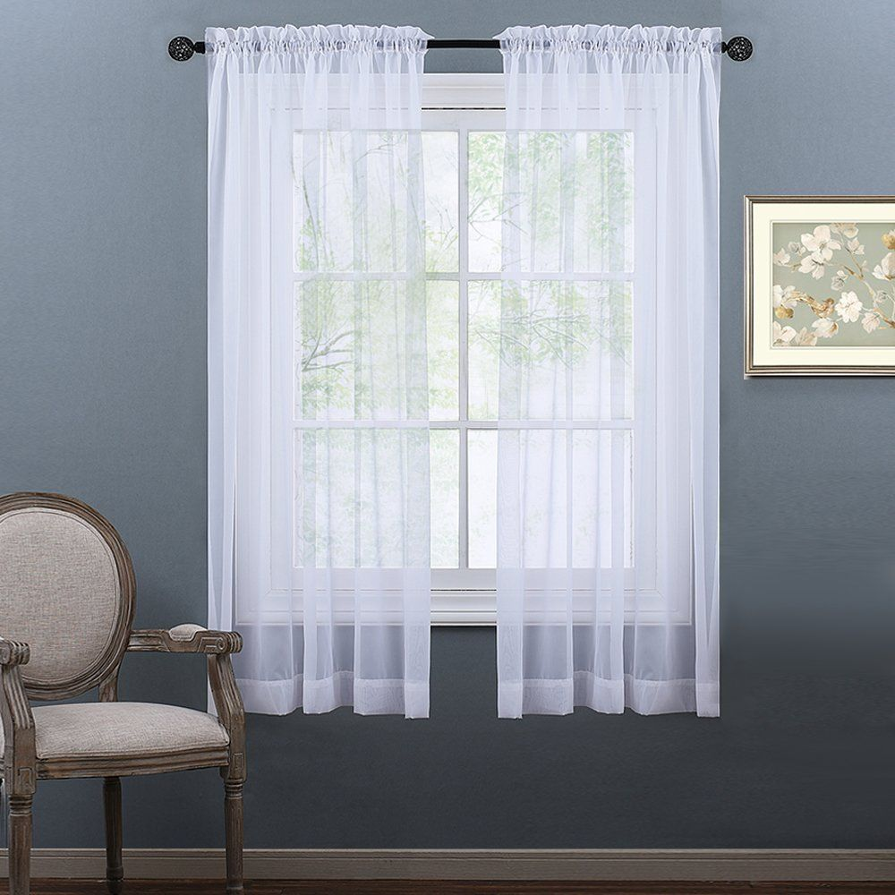 thread luxurious sheer curtains utopia amazon com panel set dp inches white by bedding high premium voile window