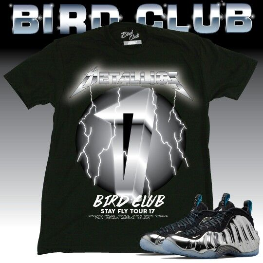 4abaf459a4d1 ... Nike Foamposite Silver Surfer tee by Bird Club Clothing. Purchase at  www.birdclubclothing.