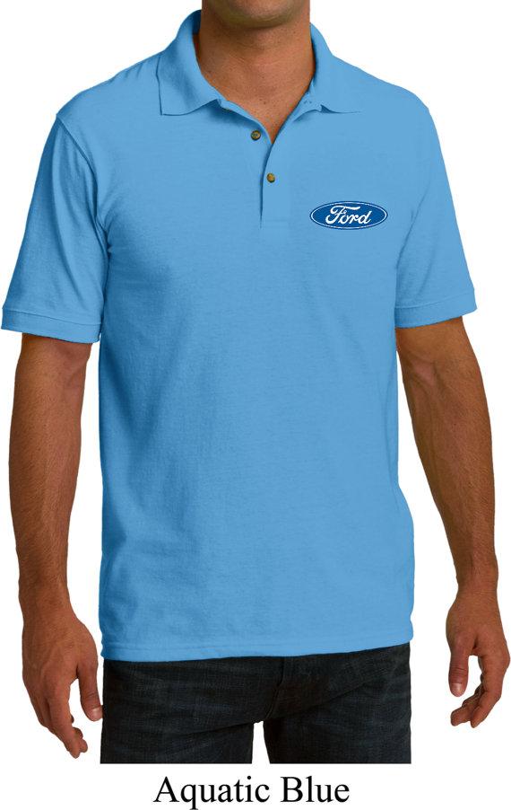 Mens Dodge Ram Hemi Logo Pocket Print Pique Polo Shirt