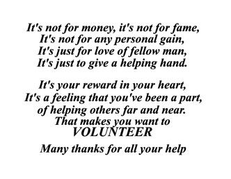 Volunteer in the community. I volunteer for Joe Di Maggio