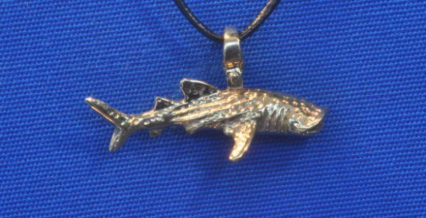 aquatic pendant whale shark-I'd stick with sterling silver or gold, but not the $730 price tag!