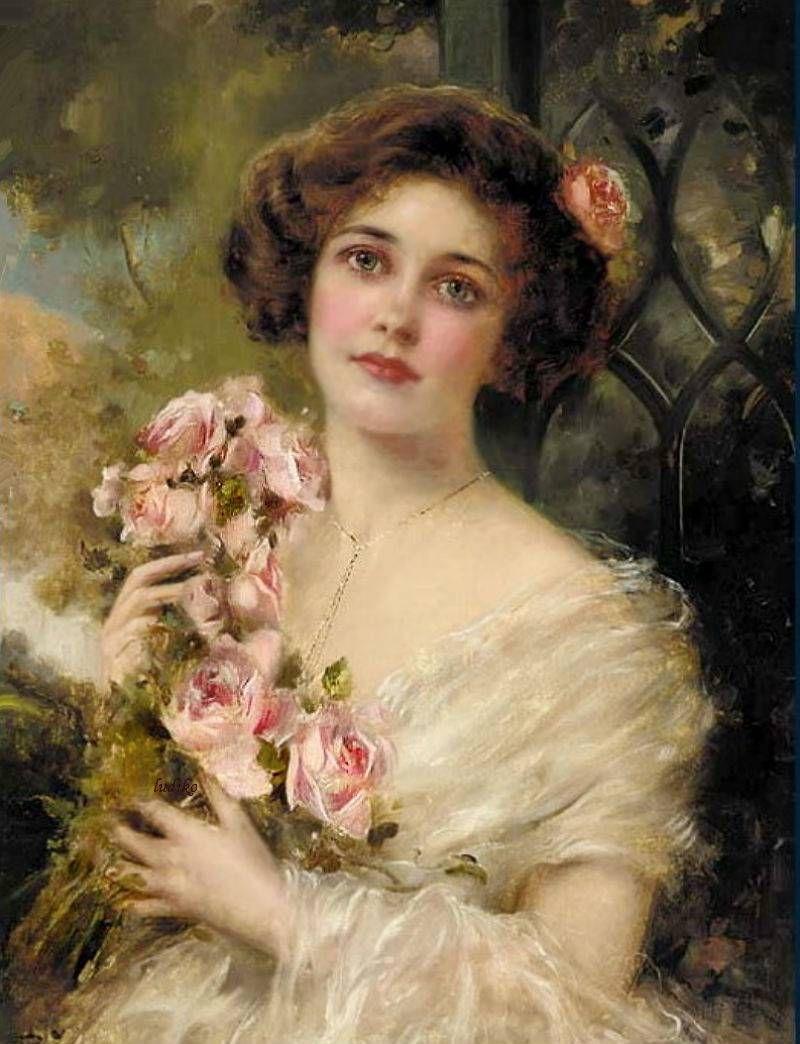 Pinturas de Emile Vernon! | Victorian paintings, Victorian art, Art