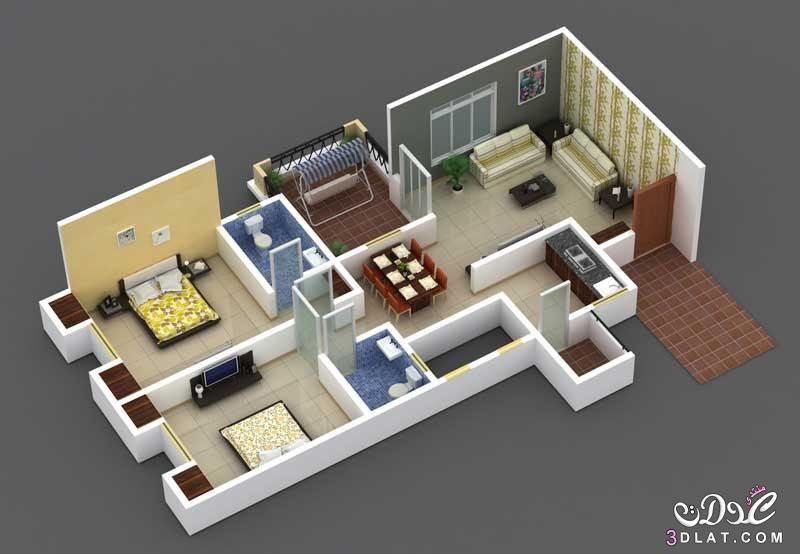 خرائط وتصاميم منازل مساحات صغيرة ومتوسطة 3dlat Net 22 17 E997 Cool Apartments Affordable Apartments Apartment