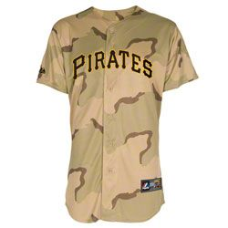 Pittsburgh Pirates Jersey: Camouflage Majestic Military Day Pittsburgh Pirates Replica Jersey $79.99 http://www.fansedge.com/Pittsburgh-Pirates-Jersey-Camouflage-Majestic-Military-Day-Pittsburgh-Pirates-Replica-Jersey-_2048923328_PD.html?social=pinterest_pfid22-49581