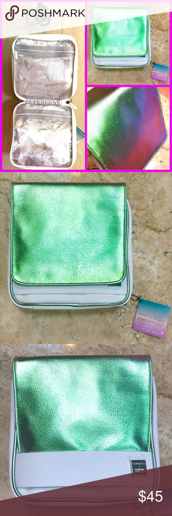 Sephora Pantone Holographic Makeup travel Case Sephora x