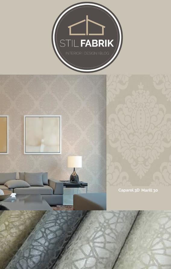 Rasch-Textil Sahara 100607 Grau-Braun Silber Ornament-Muster ...