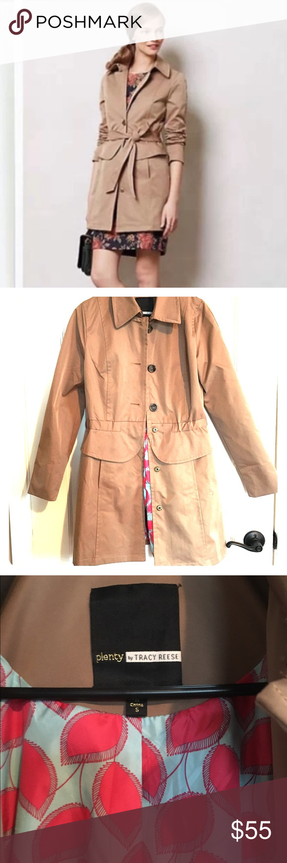 Anthropologie trench coat plenty by Tracy Reese | Coats, Tracy ...