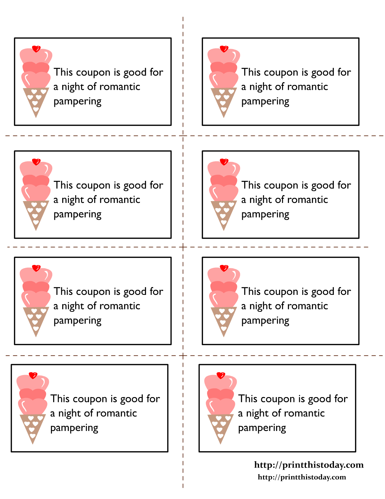 Free printable romantic coupons for him