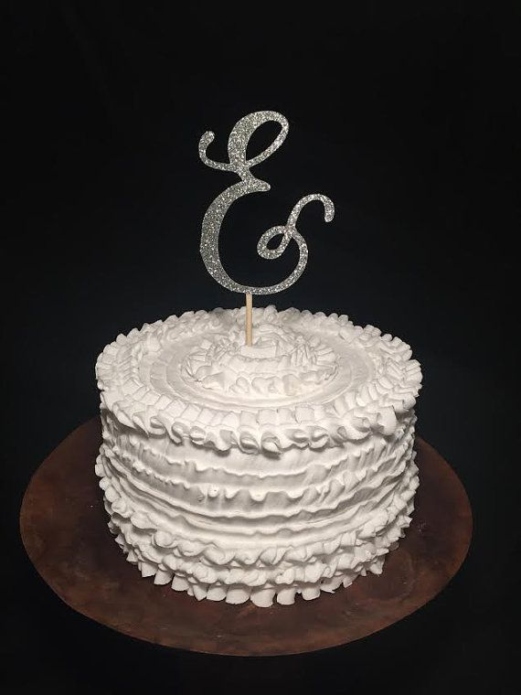 Birch Wood Cake Topper Ampersand & by cmorrisdesigns on Etsy