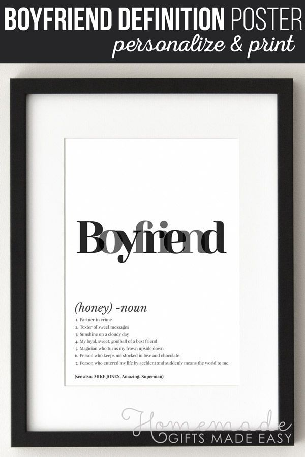Make a boyfriend definition art poster using this easy online poster generator