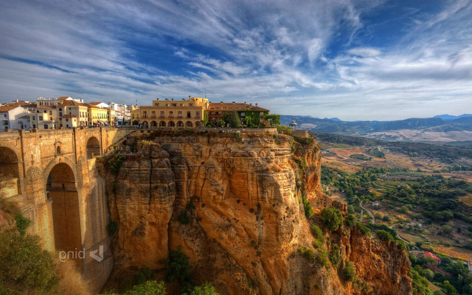 City Old Building Spain Cliff Landscape Wallpapers Hd Old Building Landscape Wallpaper Landscape