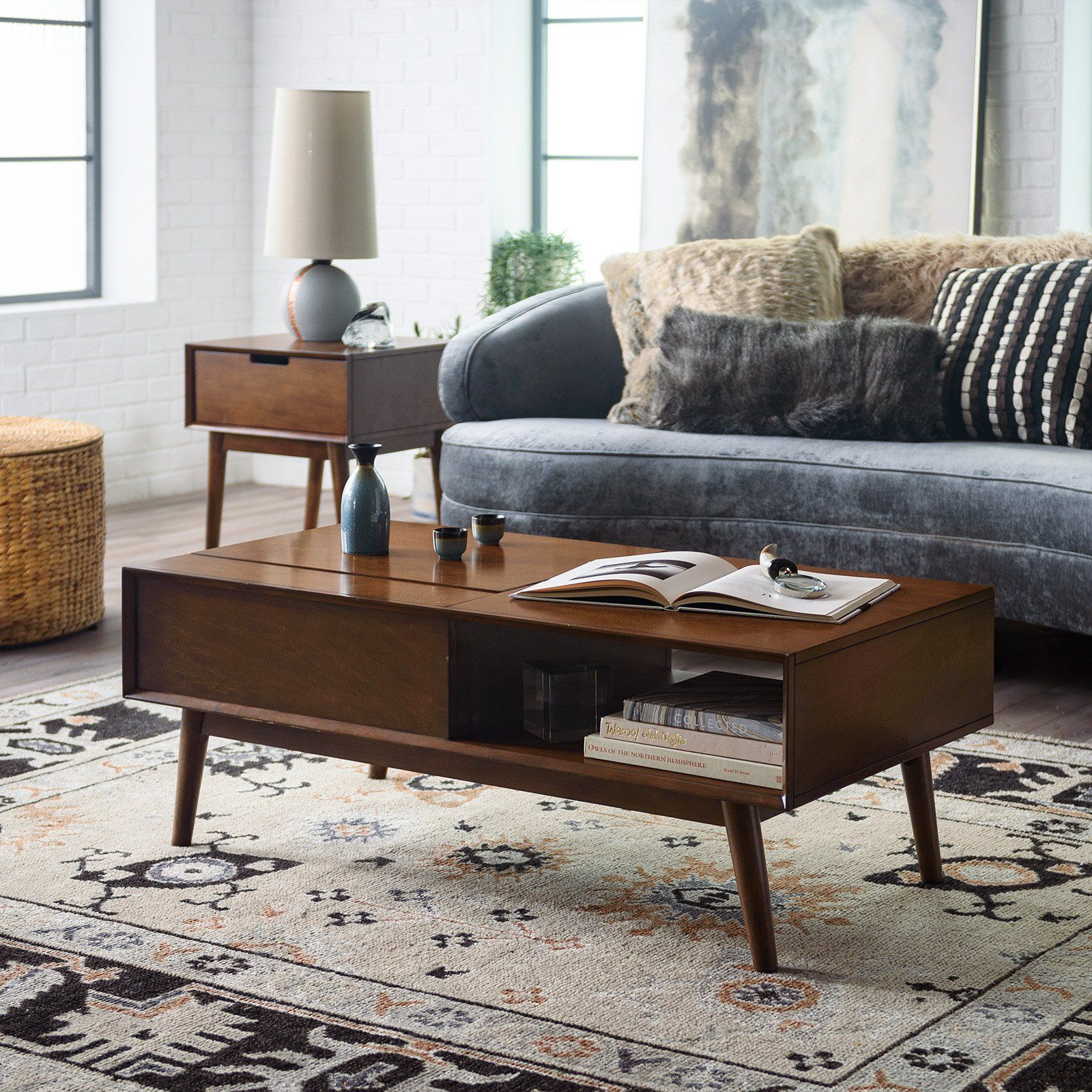 - Belham Living Campbell Mid Century Modern Lift Top Coffee Table